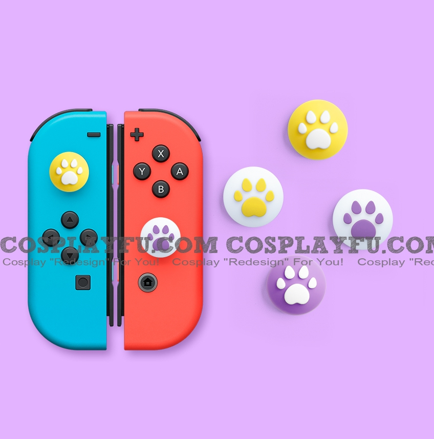 Nintendo Switch Paw Thumb Grips Caps Cover (Version F, For Switch Switch-Lite Joycon, Pack of 4)