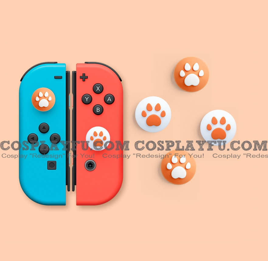 Nintendo Switch Paw Thumb Grips Caps Cover (Version G, For Switch Switch-Lite Joycon, Pack of 4)