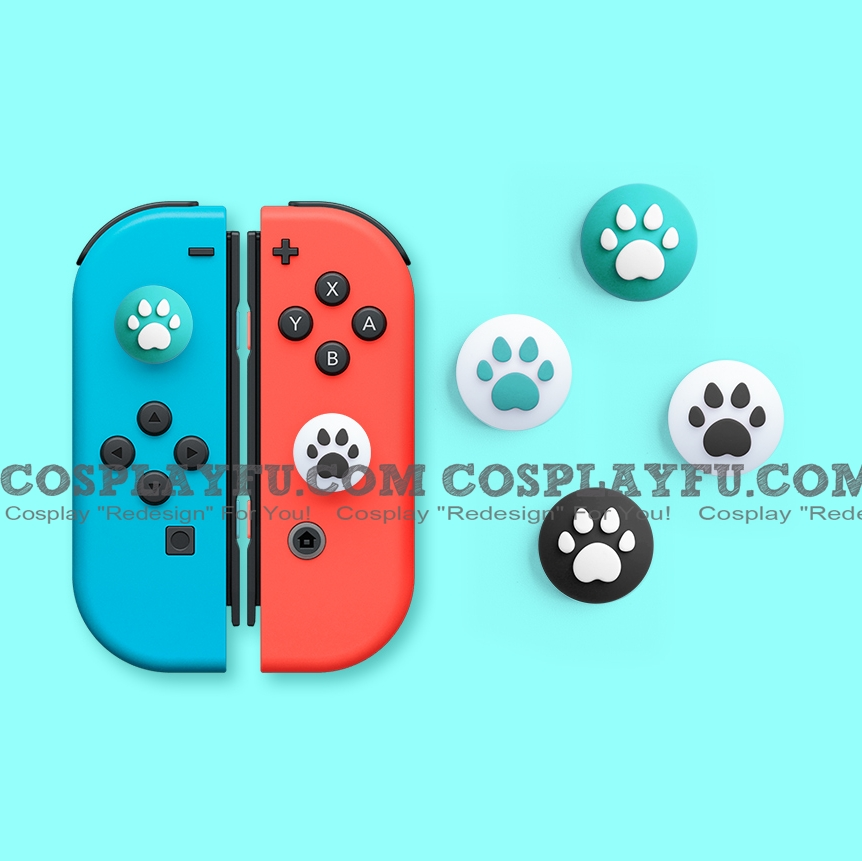 Nintendo Switch Paw Thumb Grips Caps Cover (Version H, For Switch Switch-Lite Joycon, Pack of 4)