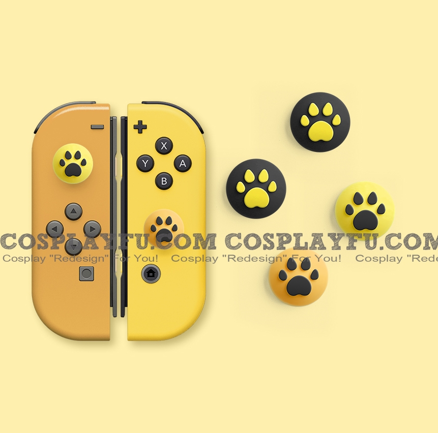 Nintendo Switch Paw Thumb Grips Caps Cover (Version I, For Switch Switch-Lite Joycon, Pack of 4)