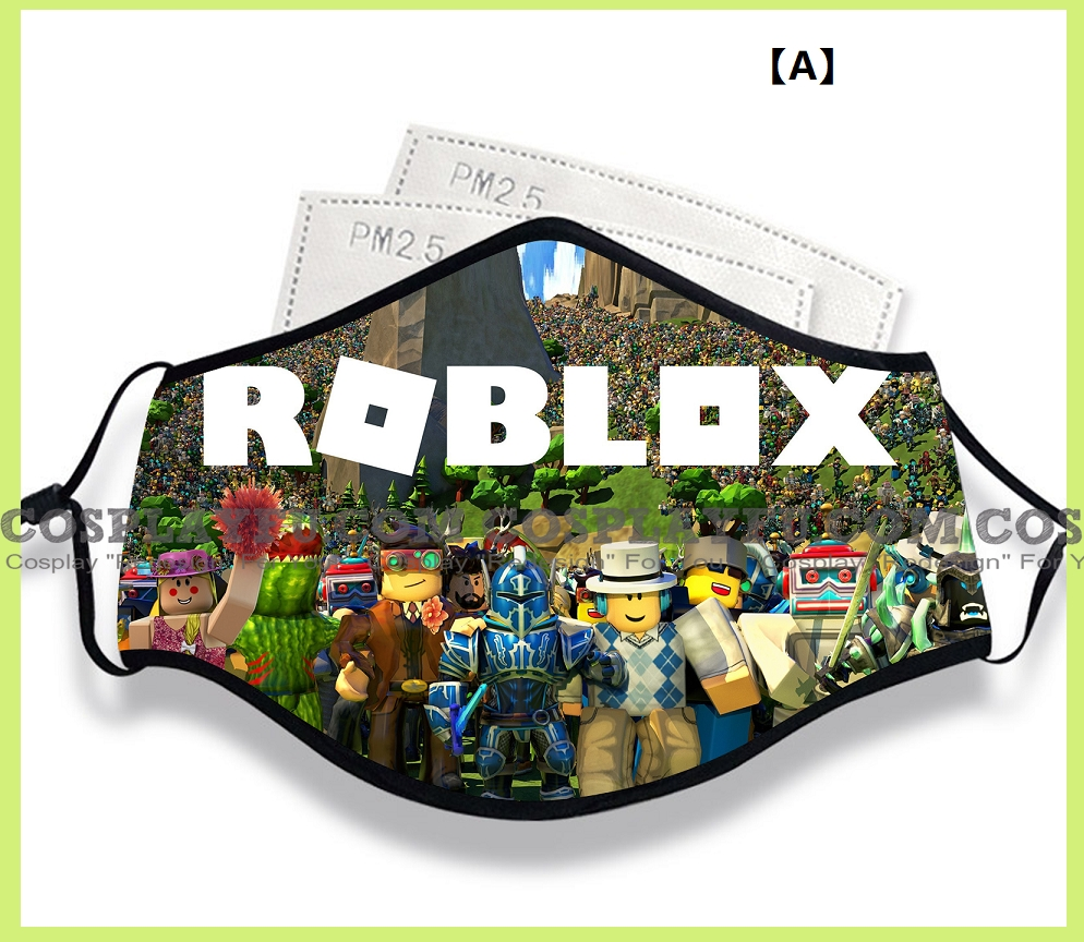 Roblox Face Mask for Adults (Cotton, Washable, Reusable) with Pocket with Nose Wire