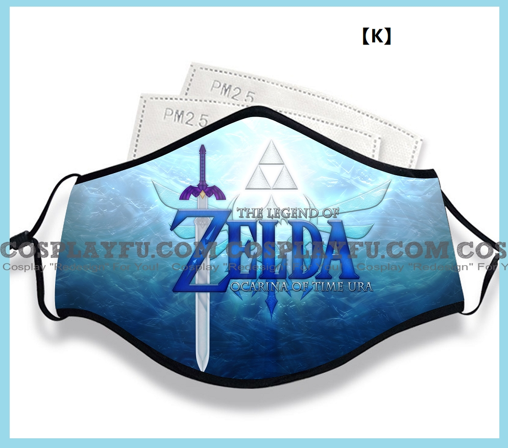 The Legend of Zelda Face Mask for Adults (Cotton, Washable, Reusable) (2nd) with Pocket with Nose Wire