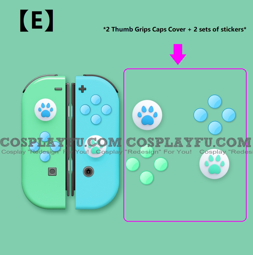 Nintendo Switch Paw Thumb Grips Caps Cover (For Switch Switch-Lite Joycon) (76169)