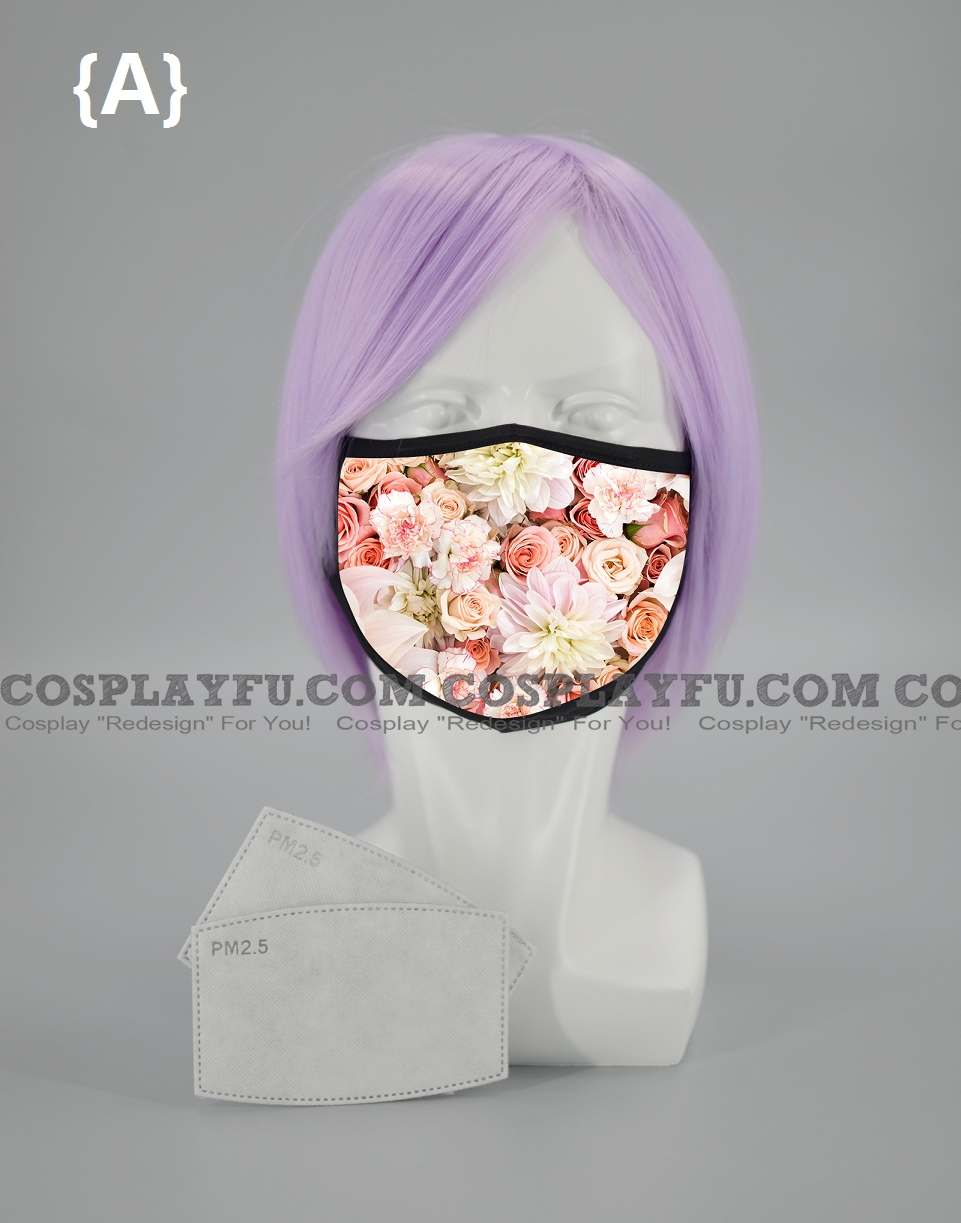 Flowers Face Mask for Adults (Cotton, Washable, Reusable) (01) with Pocket with Nose Wire