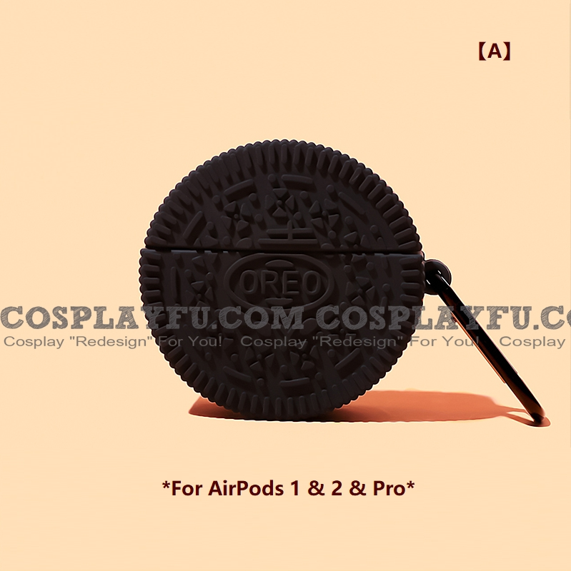 Cute Brown Classic Oreo | Airpod Case | Silicone Case for Apple AirPods 1, 2, Pro