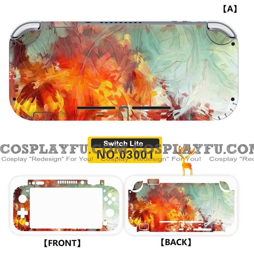Nintendo Abstract Color Switch Lite Decal Lite Skin Sticker (80039)