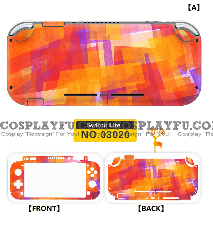 Nintendo Abstract Color (2nd) Switch Lite Decal Lite Skin Sticker (80042)