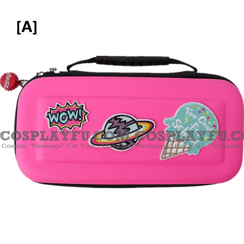Spaceship Ou Pure Couleur Nintendo Switch Carrying Case 8~10 jeu Cards Holding Cosplay