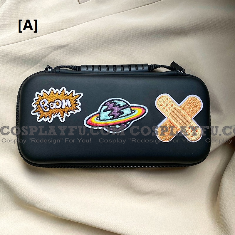 Spaceship Or Pure Color Nintendo Switch Lite Carrying Case 8~10 Game Cards Holding