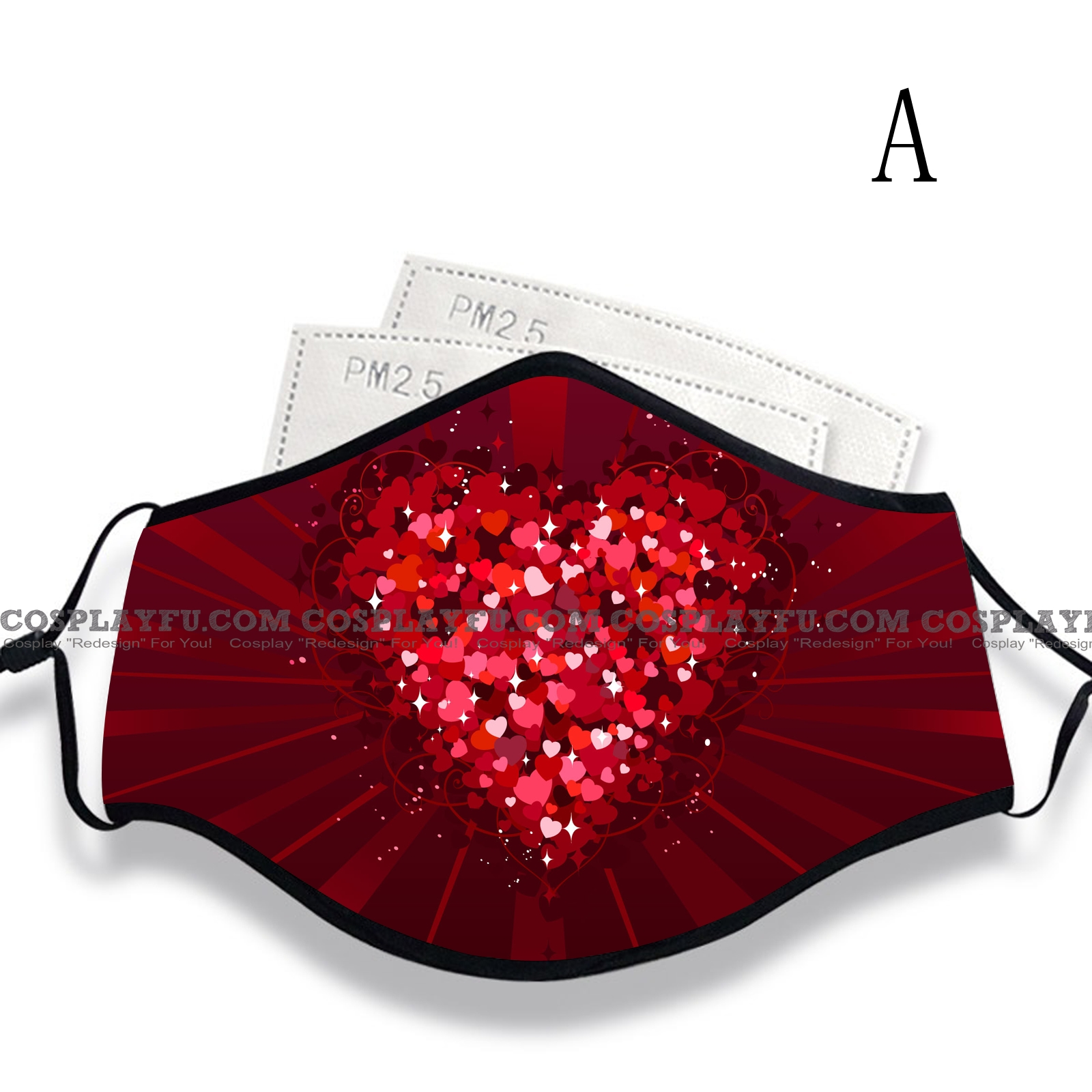 Valentine's Day Face Mask for Adults (Cotton, Washable, Reusable) with Pocket with Nose Wire