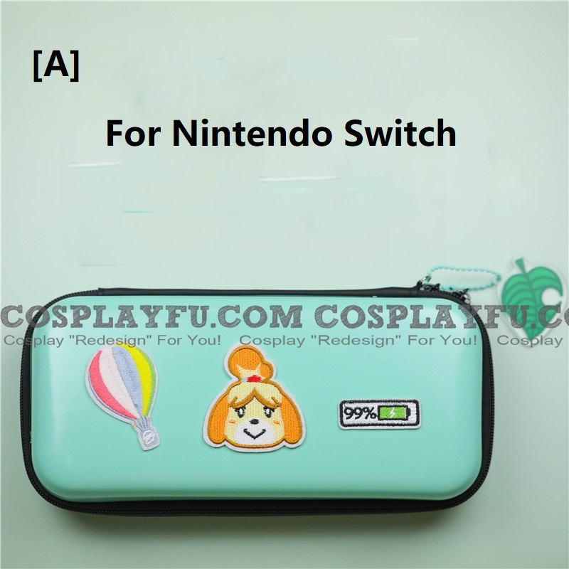 Animal Crossing Isabelle Green Color Nintendo Switch and Switch Lite Carrying Case - 8 Game Cards Holding