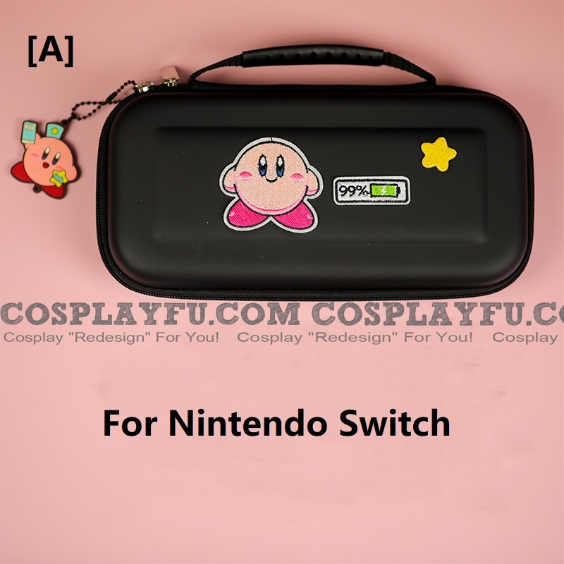 Black Kirby Nintendo Switch and Switch Lite Carrying Case 8~10 Game Cards Holding