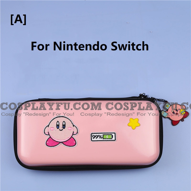 Pink Kirby Nintendo Switch and Switch Lite Carrying Case 8~10 Game Cards Holding