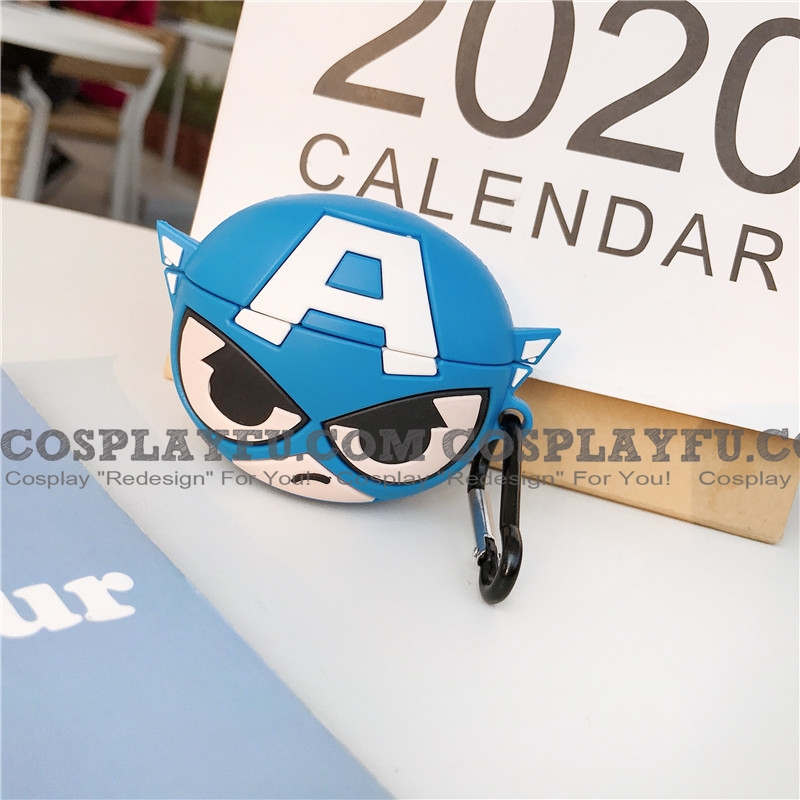 Captain America Lovely Airpod Case | Silicone Case for Apple AirPods Pro from Captain America