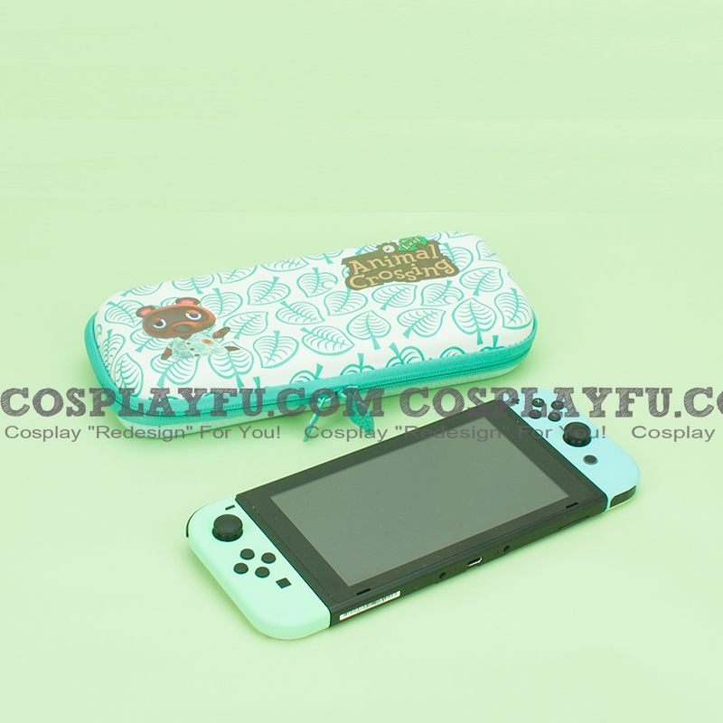 Animal Crossing Green Color Nintendo Switch Carrying Case - 10 Game Cards Holding