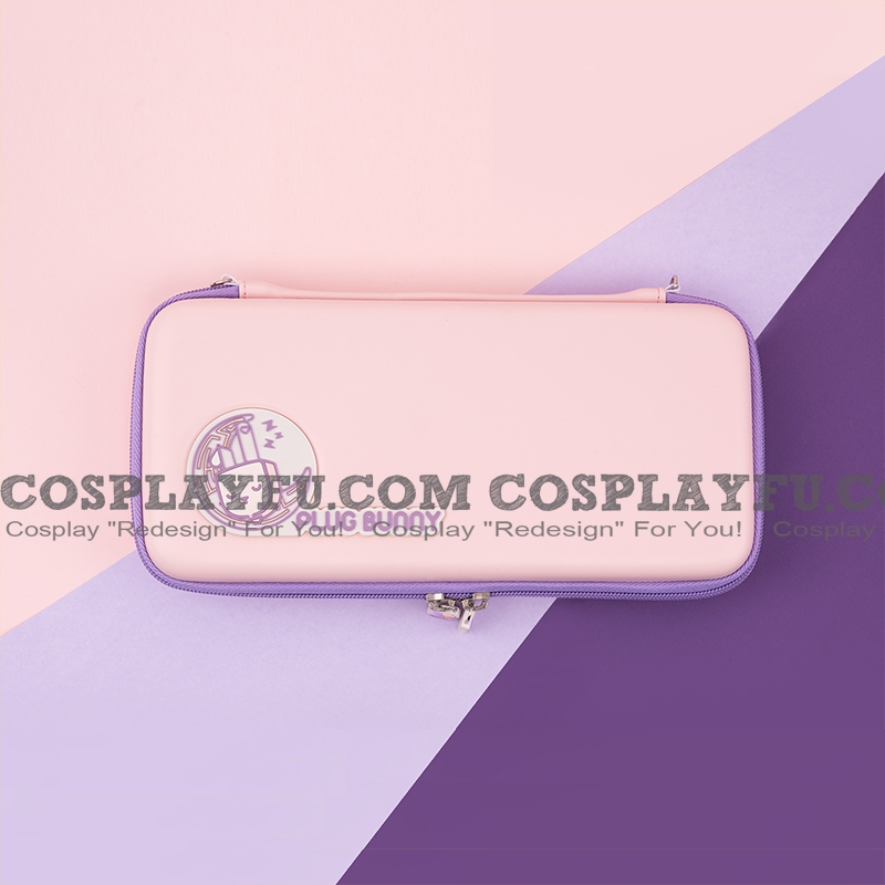 Pink Purple Bunny Nintendo Switch Carrying Case - 10 Game Cards Holding