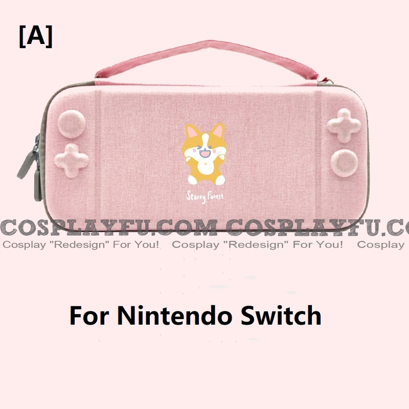Pink Corgi Nintendo Switch and Switch Lite Carrying Case - 10 Game Cards Holding