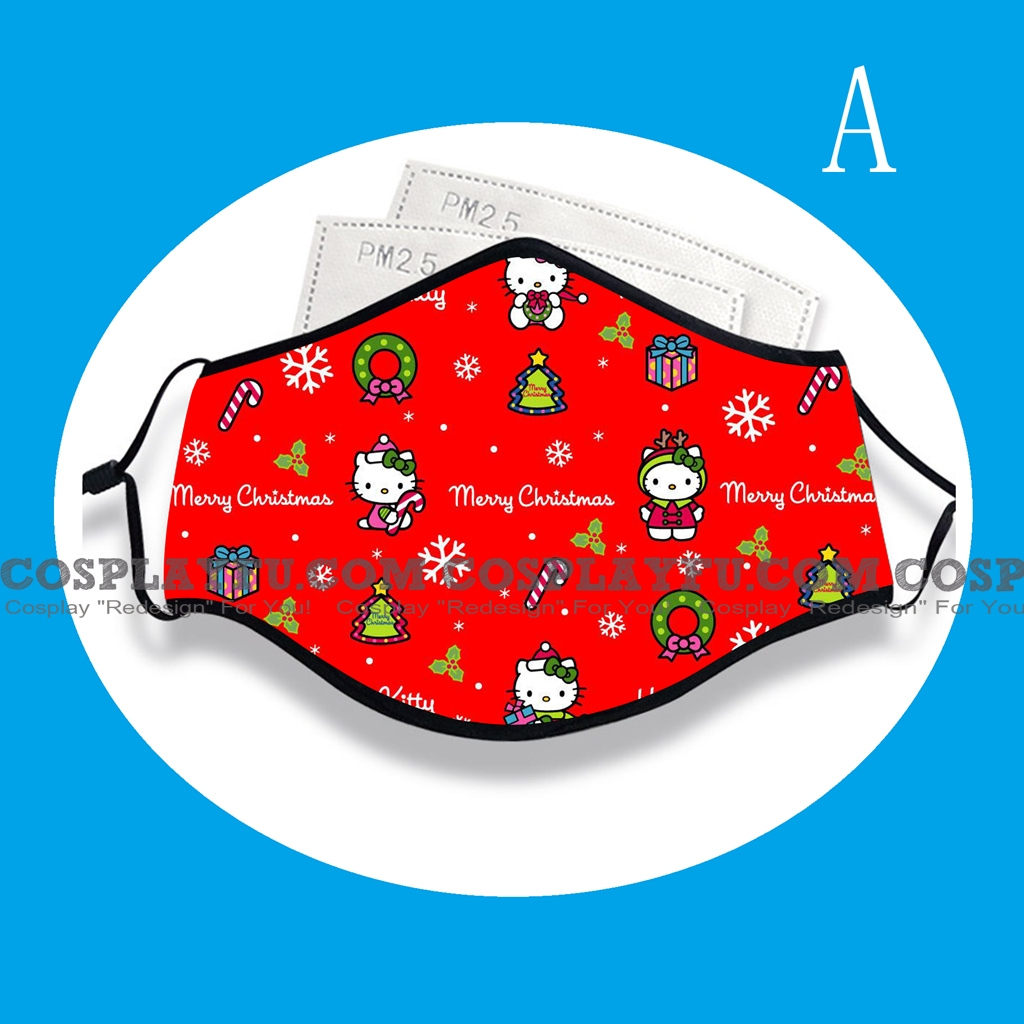 Hello Kitty Face Mask for Adults (Cotton, Washable, Reusable) with Pocket with Nose Wire