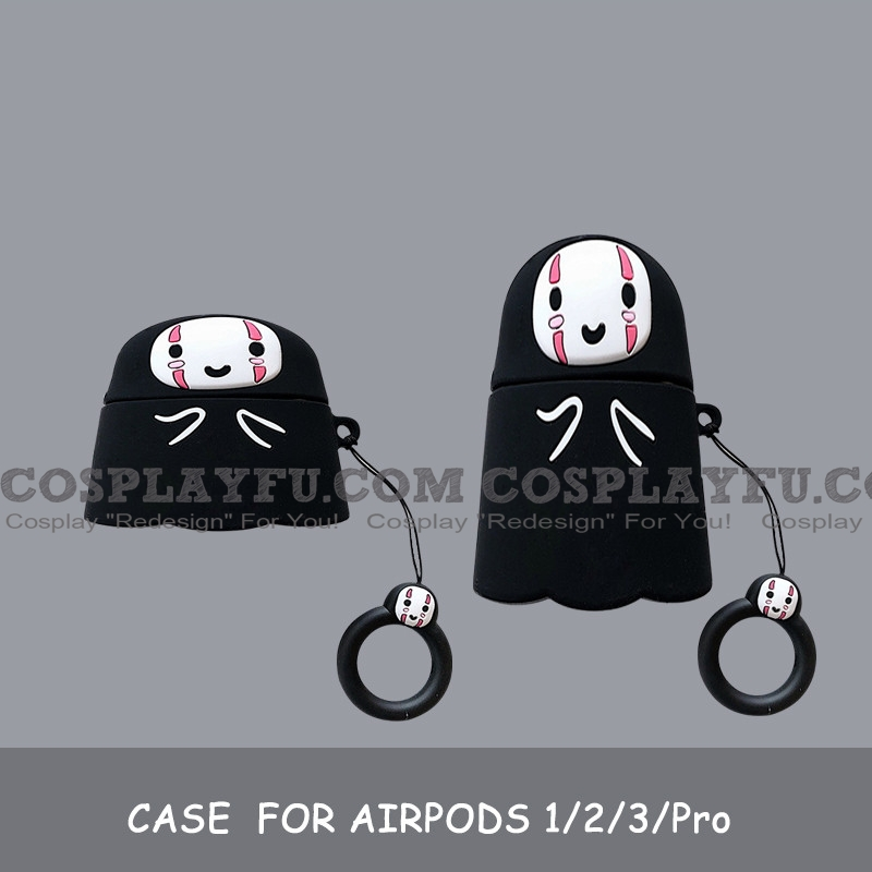 Lovely Spirited Away Нет Face | Silicone Case for Apple AirPods 1, 2, Pro Косплей