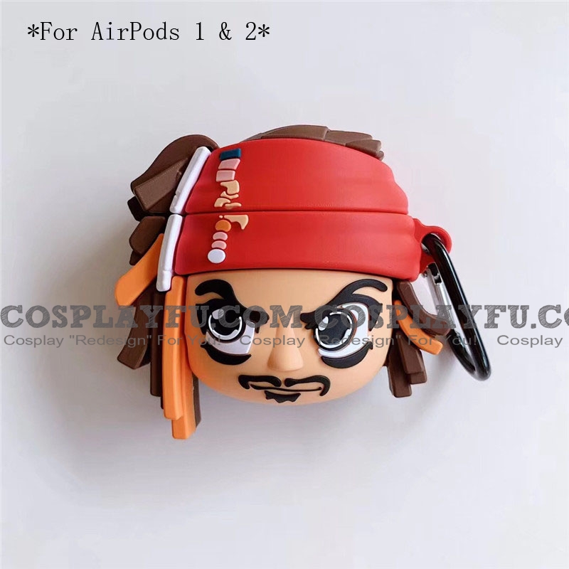 Cool Captain Jack | Silicone Case for Apple AirPods 1, 2, Pro