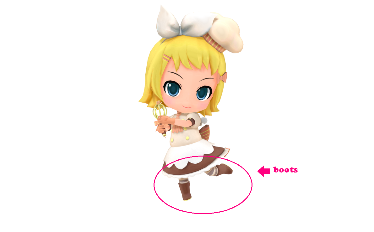 Rin Shoes (Sweet Magic) from Vocaloid