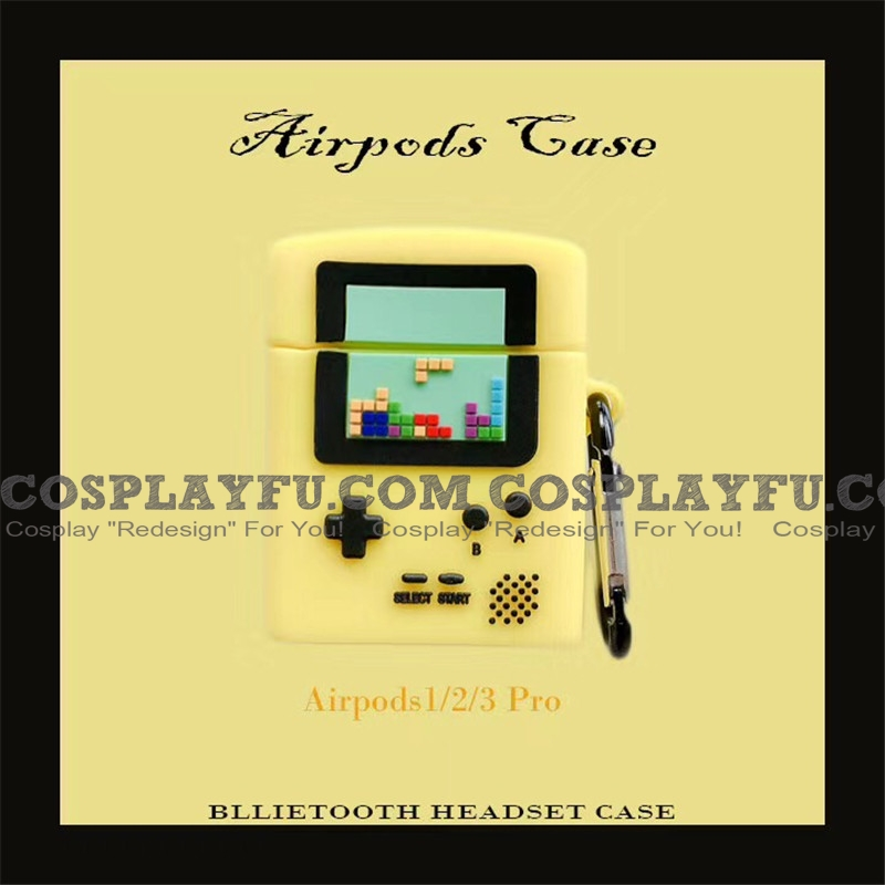 Cute Yellow Game Player | Silicone Case for Apple AirPods 1, 2, Pro