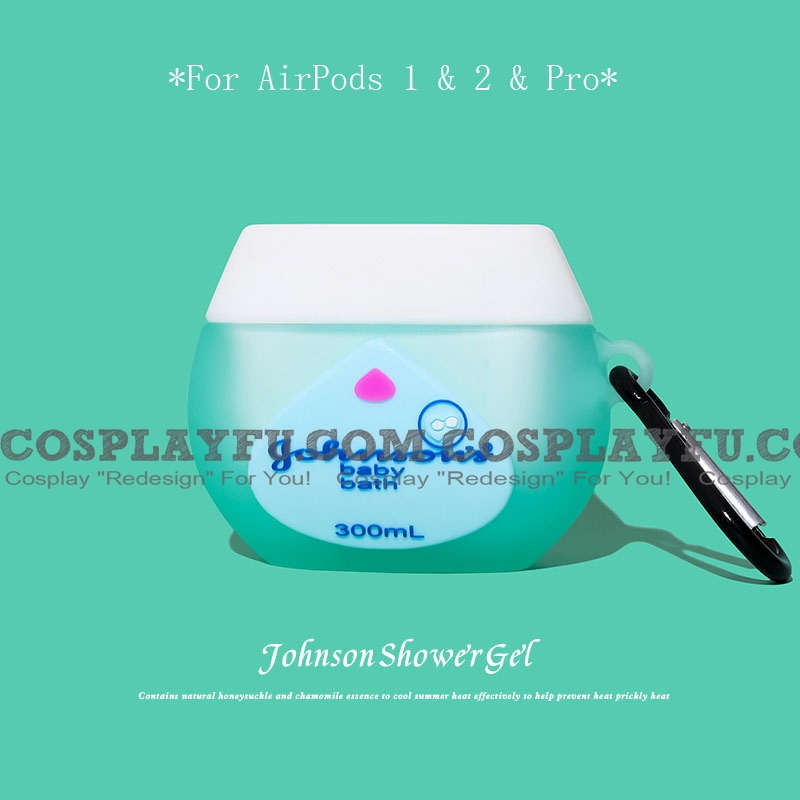 Lovely Johnson Shower Gel | Silicone Case for Apple AirPods 1, 2, Pro