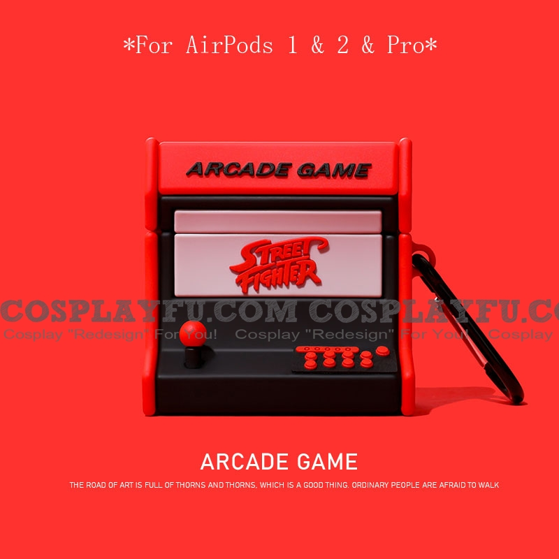 Lovely Street Fighter Game Player l | Silicone Case for Apple AirPods 1, 2, Pro