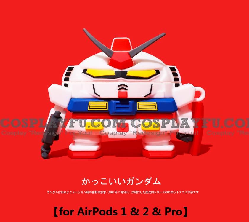 Lovely Gundam Seed | Silicone Case for Apple AirPods 1, 2, Pro (81235)