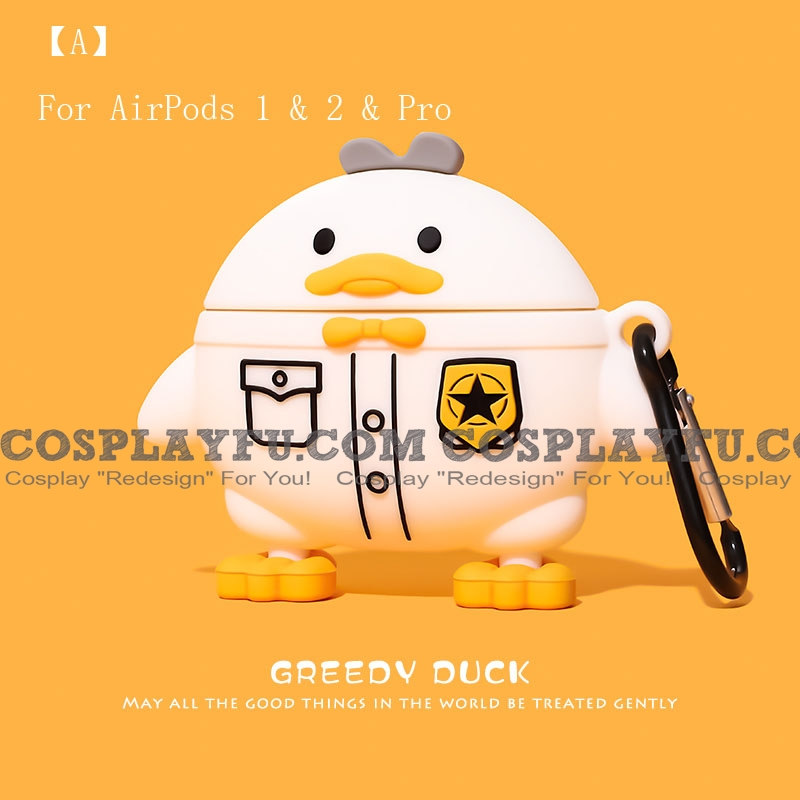 Cute Gentle Duck | Airpod Case | Silicone Case for Apple AirPods 1, 2, Pro