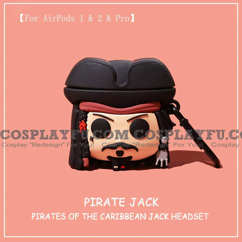 Lovely Pirate Jack | Airpod Case | Silicone Case for Apple AirPods 1, 2, Pro (81393)