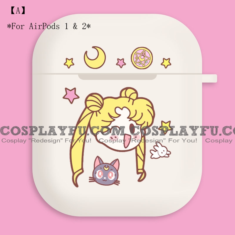 Lovely Pink Sailor Moon | Airpod Case | Silicone Case for Apple AirPods 1, 2, Pro (81428)