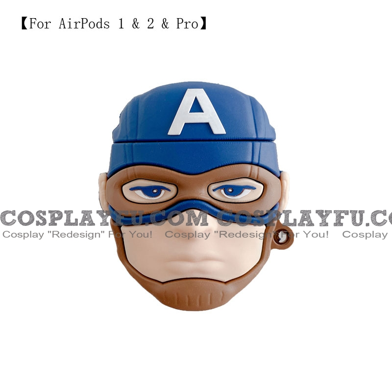 Captain America | Airpod Case | Silicone Case for Apple AirPods 1, 2, Pro (81455)