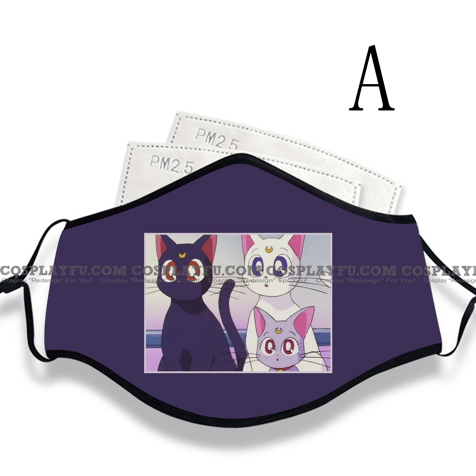 Reusable Washable Adjustable Adult Kids Face Mask • Cat • Cotton • Lovely Animal with Filter Pocket Nose Wire