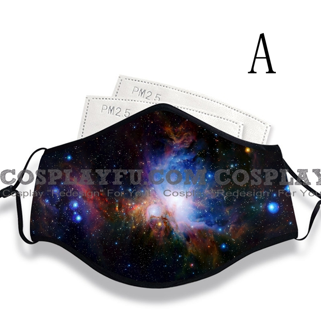 Reusable Washable Adjustable Adult Kids Face Mask • Galaxy • Cotton • Lovely Animal with Filter Pocket Nose Wire