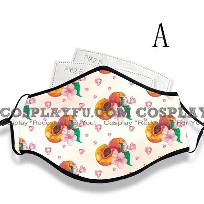 Reusable Washable Adjustable Adult Kids Face Mask • Peach • Cotton • Lovely Animal with Filter Pocket Nose Wire