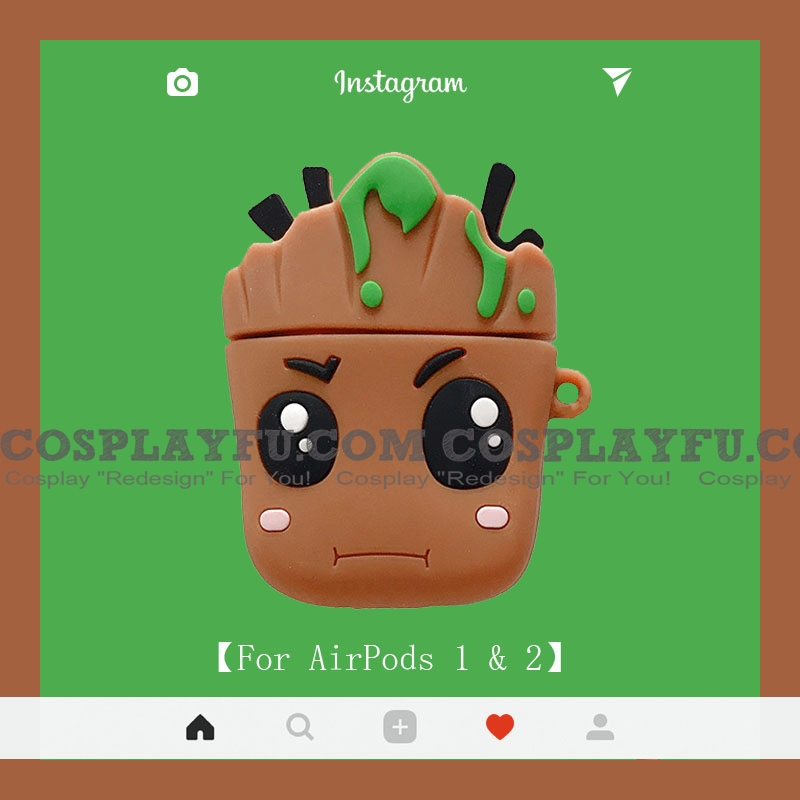 Lovely Baby Groot | Airpod Case | Silicone Case for Apple AirPods 1, 2, Pro Cosplay (81501)