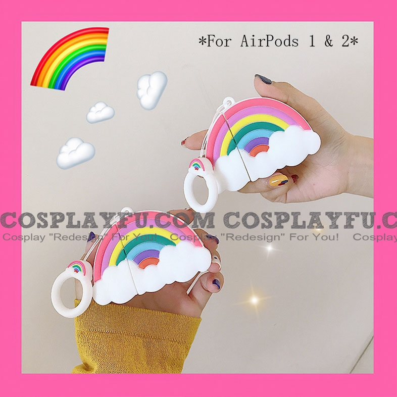 Lovely Regenbogen | Airpod Case | Silicone Case for Apple AirPods 1, 2, Pro Cosplay (81502)