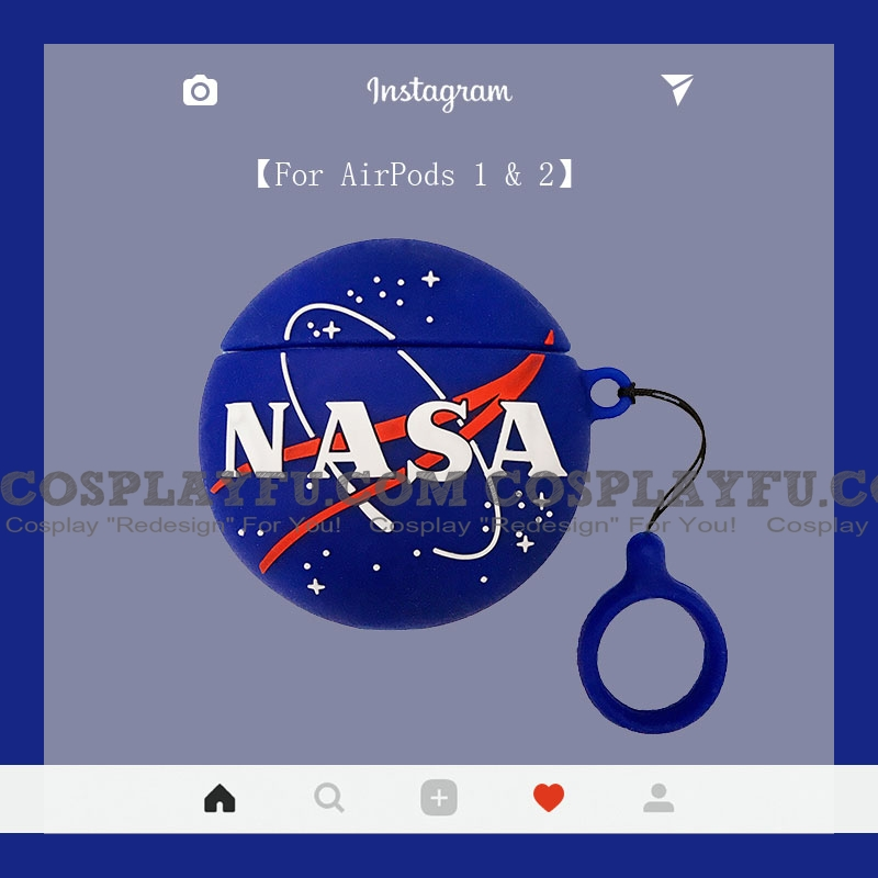 Lovely NASA | Airpod Case | Silicone Case for Apple AirPods 1, 2, Pro Cosplay (81503)