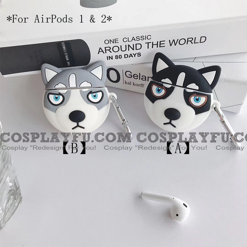 Lovely Husky | Airpod Case | Silicone Case for Apple AirPods 1, 2, Pro (81506)
