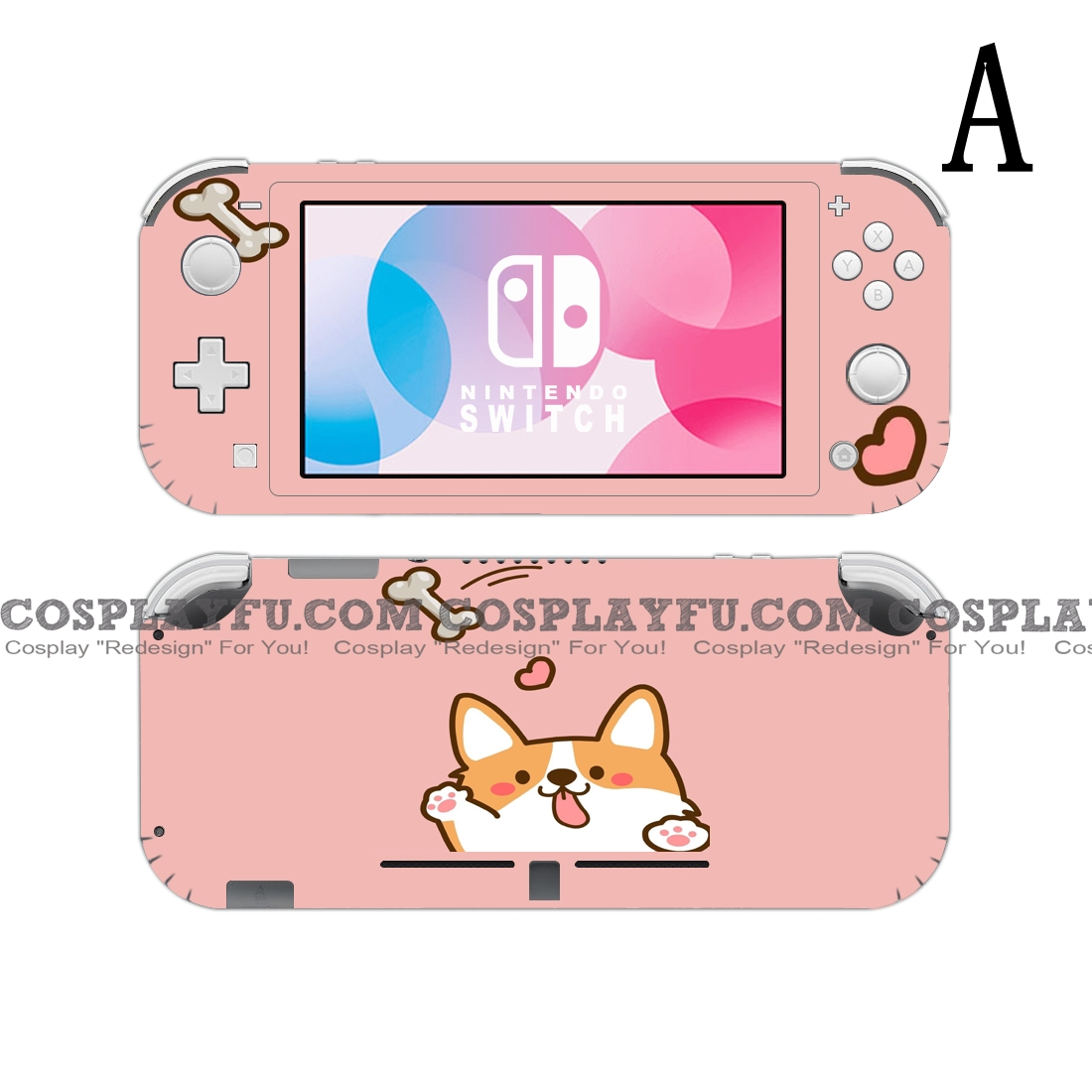 Lite Skin Dog - Nintendo Switch Lite Decal NS Skin Sticker (81531)
