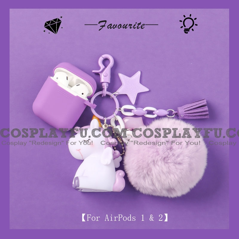 Lovely Purple Unicorn | Airpod Case | Silicone Case for Apple AirPods 1, 2, Pro (81539)