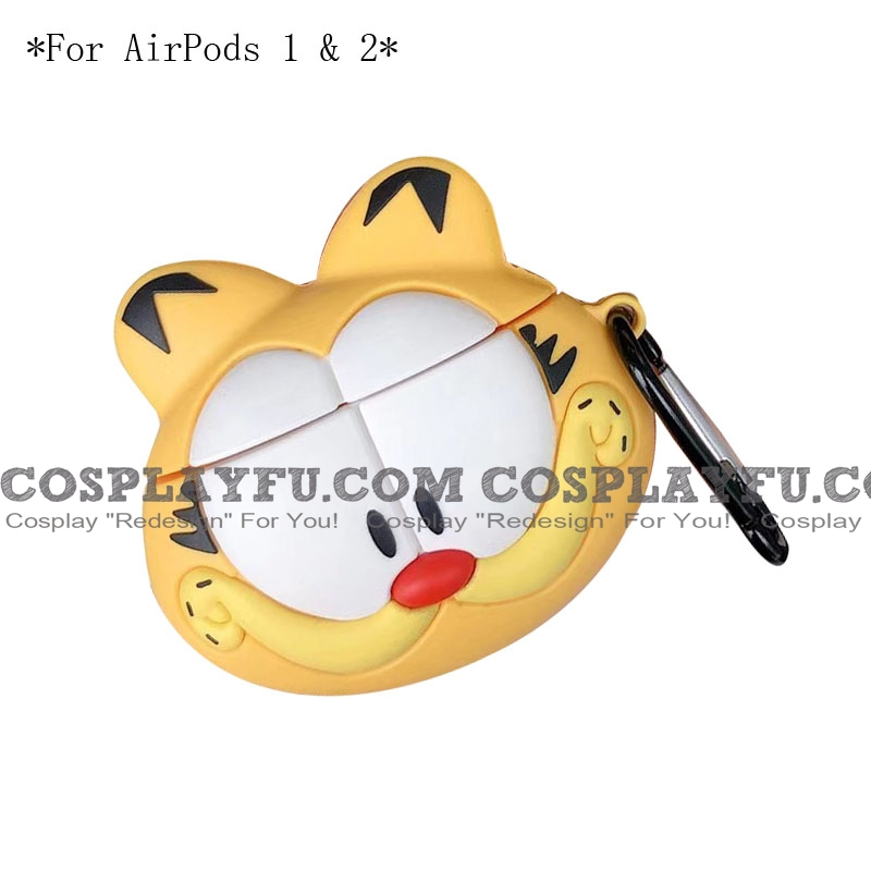 Lovely Garfield | Airpod Case | Silicone Case for Apple AirPods 1, 2, Pro Cosplay (81597)