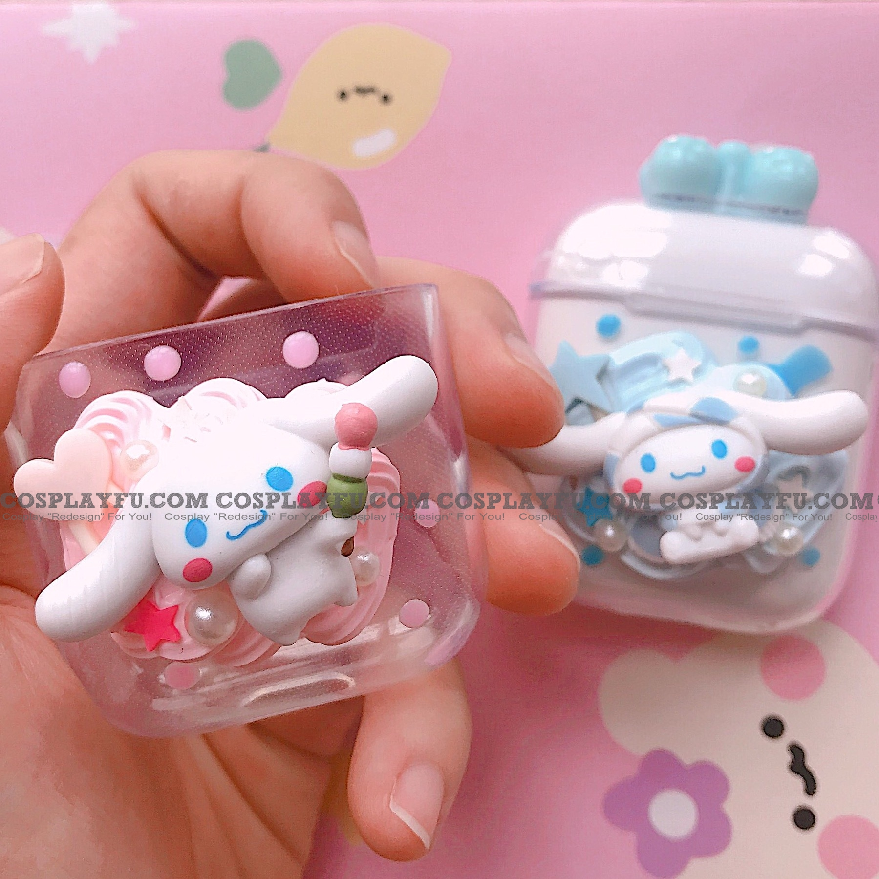 Cinnamoroll 3D Transparent Airpod Case | Silicone Case for Apple AirPods 1, 2, Pro Cosplay