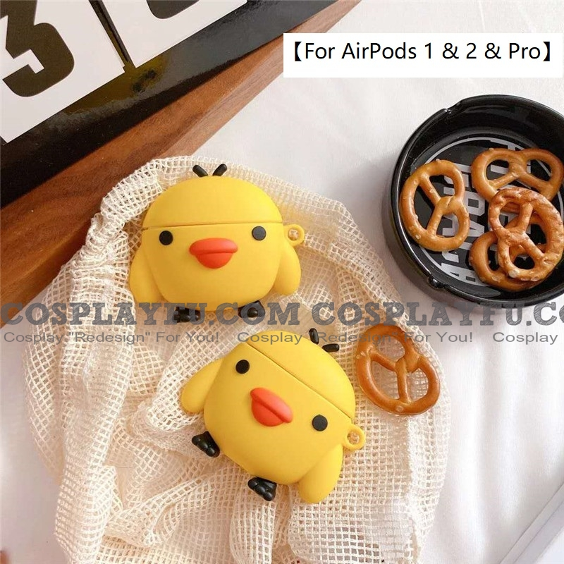 Lovely イエロー Chicken | Airpod Case | Silicone Case for Apple AirPods 1, 2, Pro コスプレ (81644)