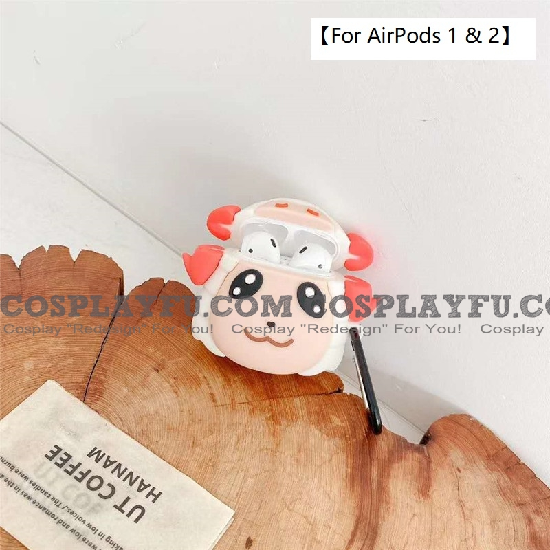 Lovely Dom Animal Crossing | Airpod Case | Silicone Case for Apple AirPods 1, 2 (81645)