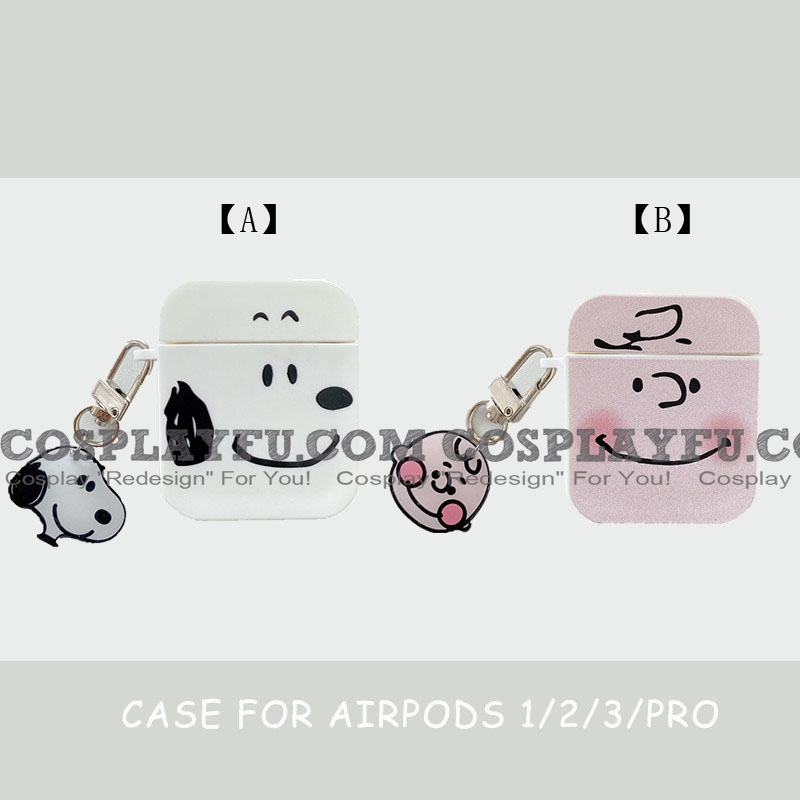 Lovely Snoopy with Charlie Brown | Airpod Case | Silicone Case for Apple AirPods 1, 2, Pro (81662)