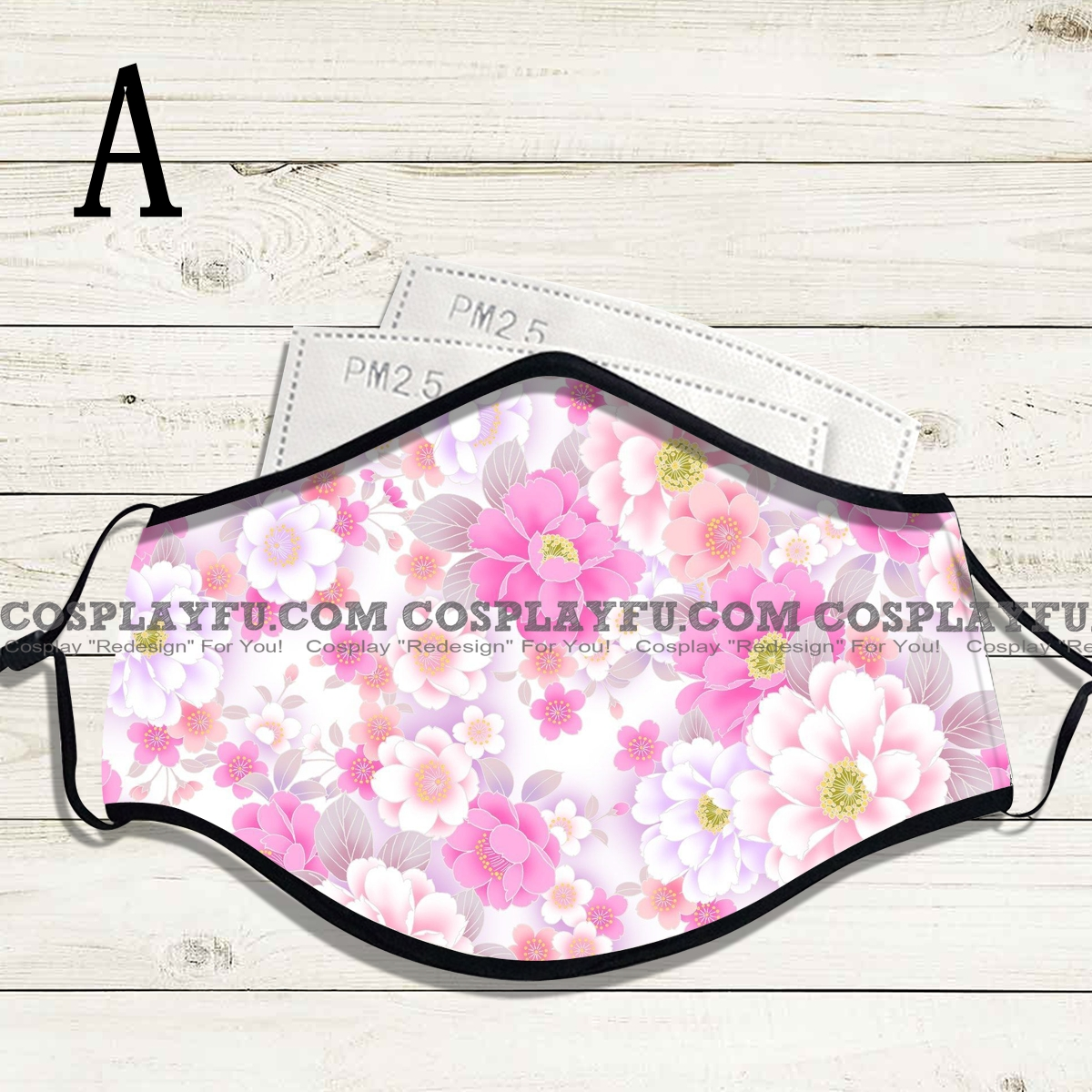 Reusable Washable Adjustable Adult Kids Face Mask • Flowers • Cotton • Lovely with Filter Pocket Nose Wire