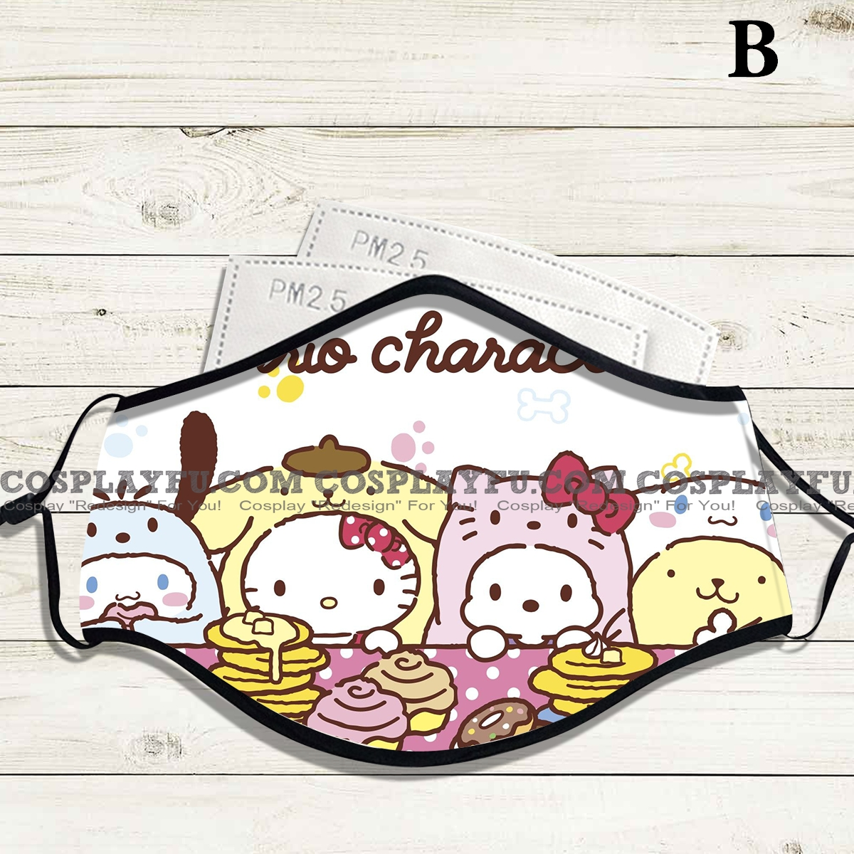Reusable Washable Adjustable Adult Kids Face Mask • Sanrio• Cotton • Lovely with Filter Pocket Nose Wire