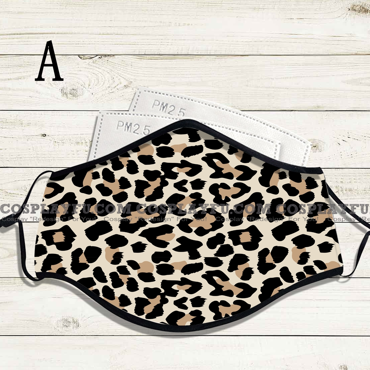 Reusable Washable Adjustable Adult Kids Face Mask • Leopard • Cotton • Lovely with Filter Pocket Nose Wire